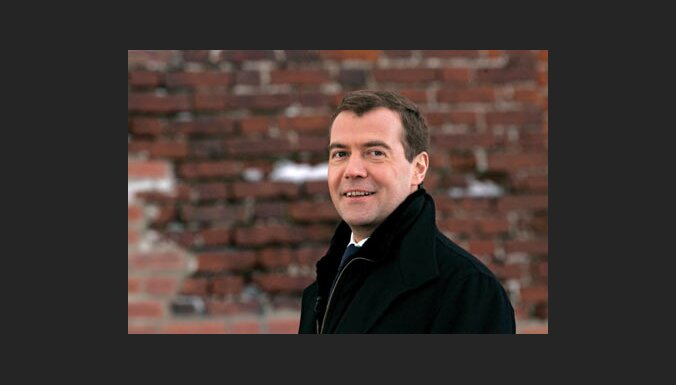 Vēlēšanās Krievijā par Medvedevu nobalsojuši 69% vēlētāju