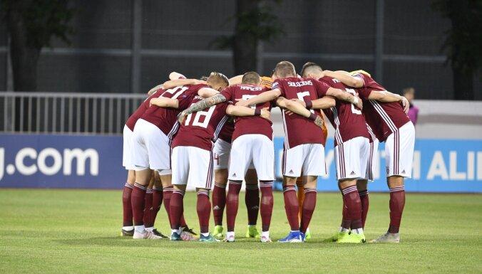 Latvijas futbola izlase FIFA rangā pakāpjas uz 134. vietu