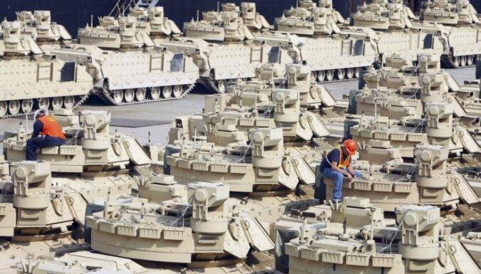 В Латвию прибудет американская военная техника