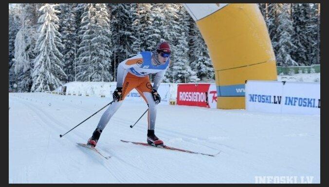 Distanču slēpotājam Liepiņam sestā vieta FIS sacensībās Igaunijā
