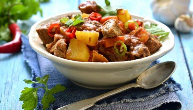 Jēra gaļas un kāļu sautējums