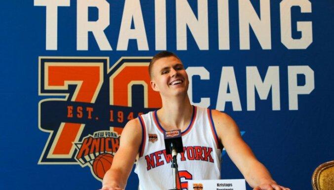 Porziņģis par katru bloķētu metienu ziedos 500 dolārus Ņujorkas jauno basketbolistu izglītībai