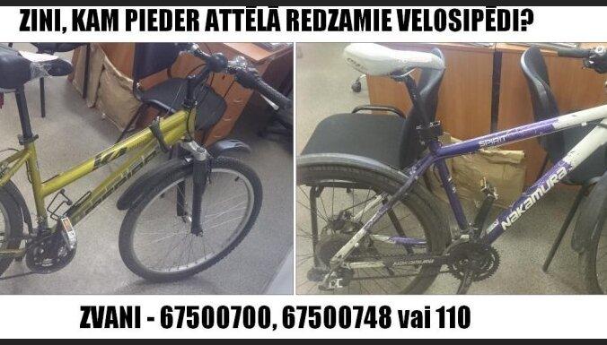 Likumsargi meklē velosipēdu īpašniekus