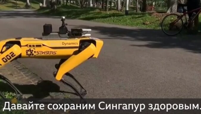 ВИДЕО: Робот-патрульный следит за социальным дистанцированием в парке Сингапура