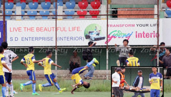 Во время празднования гола футболист получил травмы, несовместимые с жизнью