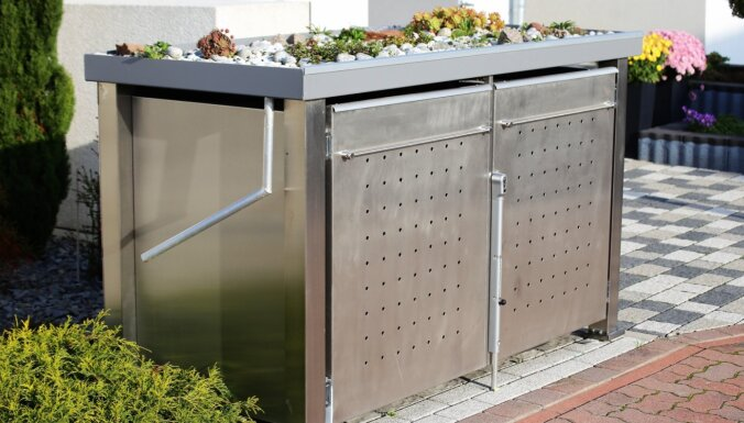 Idejas, kā pagalmā paslēpt nepievilcīgo atkritumu tvertni