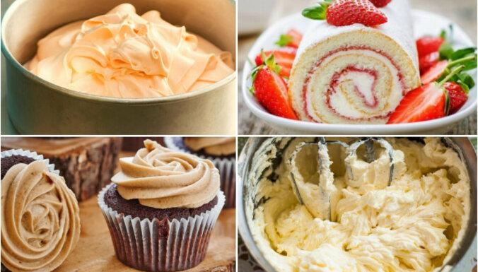 Apelsīnu, zefīra, vaniļas un 'Rafaello': kārdinoši saldie krēmi tortēm un kūkām