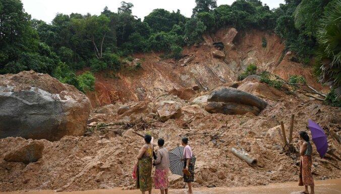 Zemes nogruvumā Mjanmā bojā gājuši 59 cilvēki