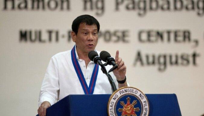 Filipīnu prezidents draud izstāties no ANO