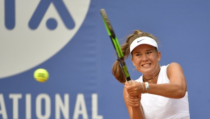 Bartone un Semenistaja sasniedz 'US Open' junioru dubultspēļu otro kārtu