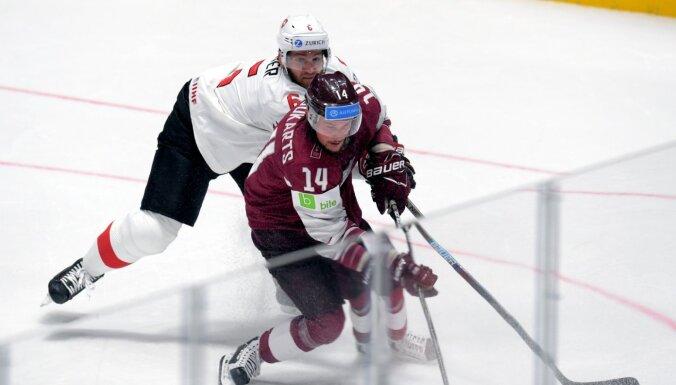 Latvijas hokeja izlasei priekšpēdējā pārbaude pirms PČ Rīgā