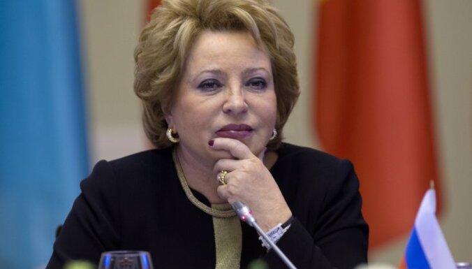Матвиенко назвала антироссийские санкции нарушением свободы слова