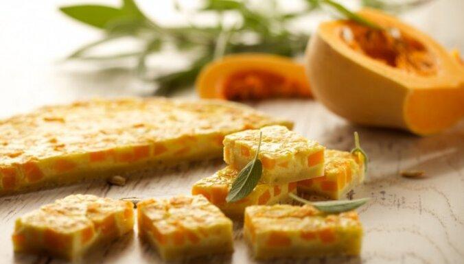 Sviesta ķirbja tarte ar salviju un cieto sieru 'Džiugas'