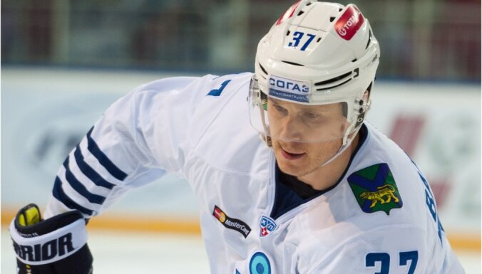 Bārtuļa pārstāvētā 'Admiral' pamatīgi zaudē KHL spēlē pret 'Lokomotiv' hokejistiem
