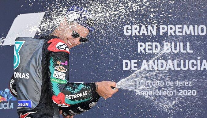 Kvartararo izcīna otro uzvaru pēc kārtas 'MotoGP' sezonas ievadā