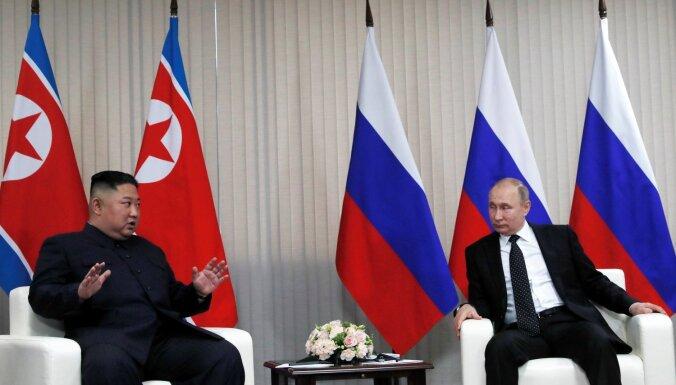 Ziemeļkorejai nepieciešamas drošības garantijas, pēc samita norāda Putins