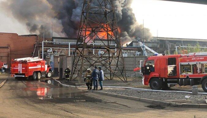 Vladikaukāzā aizdedzies rūpnīcas elektrolīzes cehs; cilvēki masveidā pametuši pilsētu