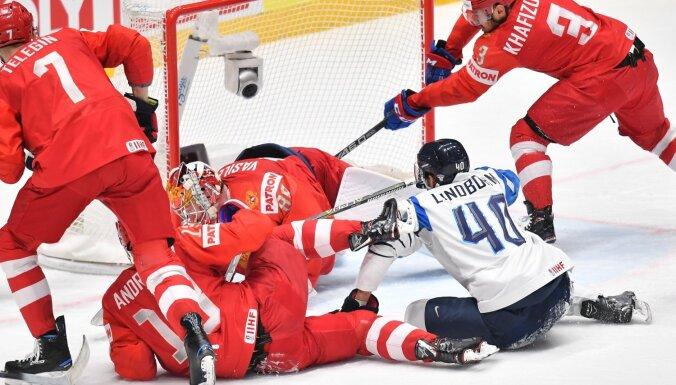 Video: Pusfināla cīņas pasaules hokeja čempionātā