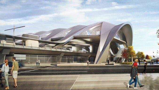 ФОТО. Новые визуализации Rail Baltica: Как будет выглядеть центральный вокзал в будущем?