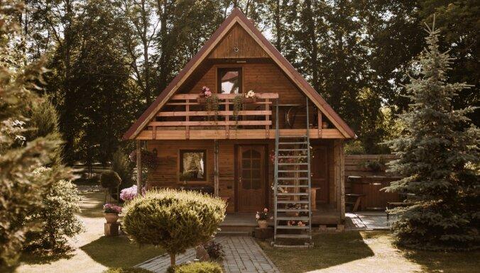 ФОТО. Необычный гостевой домик с банными ритуалами под Вентспилсом