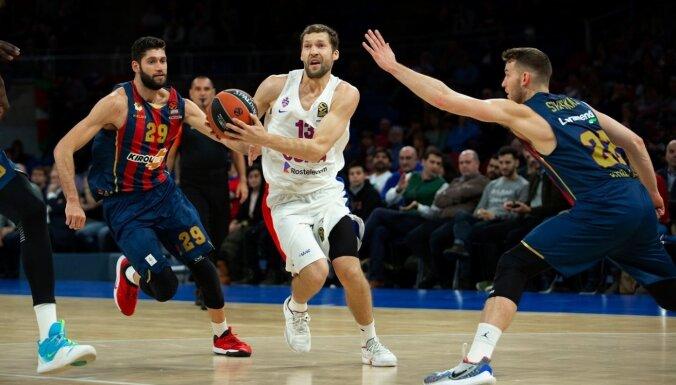 Strēlnieks rezultatīvākais CSKA komandā zaudētā Eirolīgas spēlē