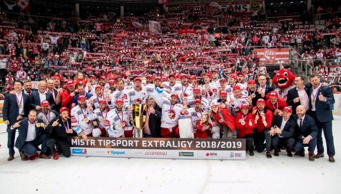 Galviņš palīdz Tršinecas 'Ocelārži' komandai triumfēt Čehijas čempionātā