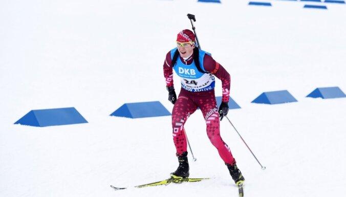 Latvijas biatlona stafetes kvartets izcīna 22. vietu pasaules čempionātā