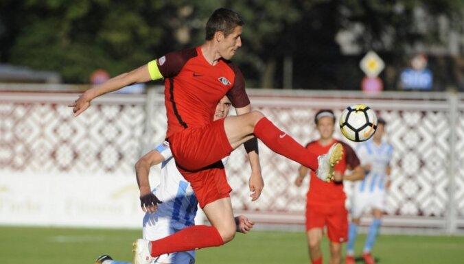 'Riga' vētrainā mačā uzvar 'Spartaka' futbolistus