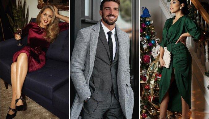Gadu mijas gaidās: spožas kleitas un eleganti tērpi Jaunā gada svinībām