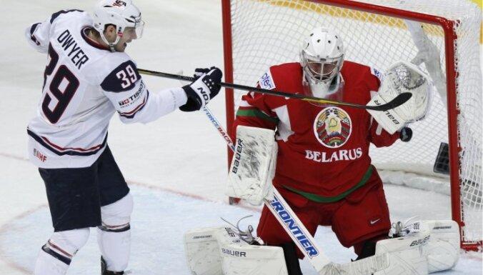 VIDEO: Baltkrievija atspēlējas, bet nespēj uzvarēt ASV