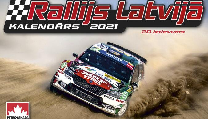 Foto: Klajā nācis 20 gadu jubilejas kalendārs 'Rallijs Latvijā 2021'