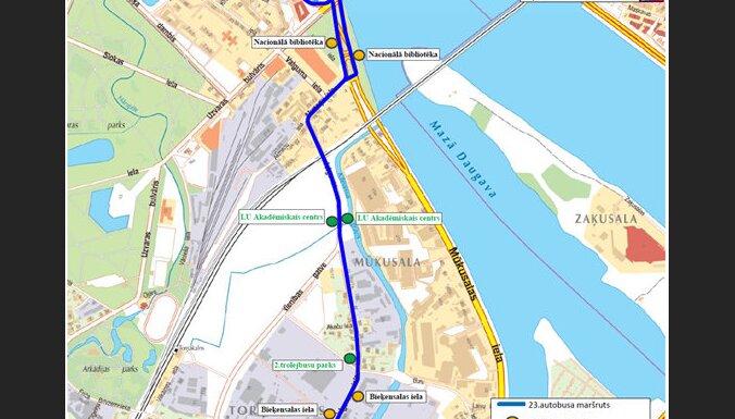 С ноября в Риге изменится маршрут 23-го автобуса