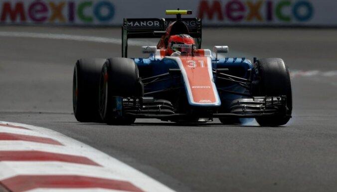 Beigusi pastāvēt F-1 vājākā komanda 'Manor'