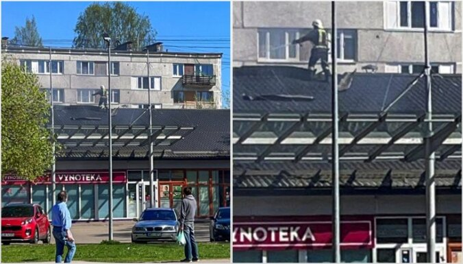 Vaidavas ielā Rīgā deg seši plastmasas konteineri