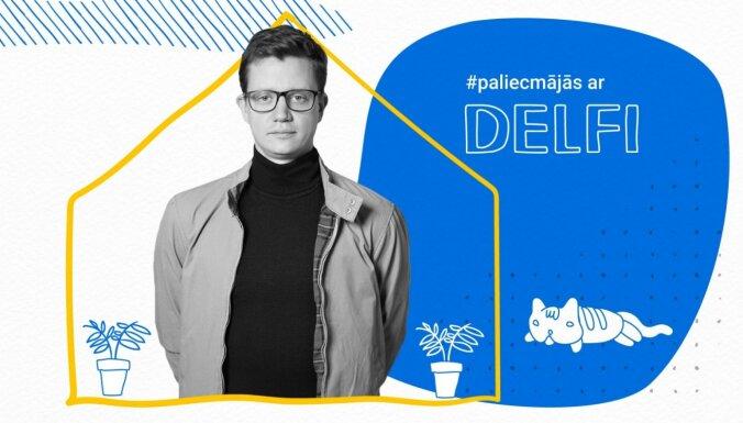 Edavārdi par makšķerēšanu un repu raidījumā '#PaliecMājās ar Delfi'. Ieraksts