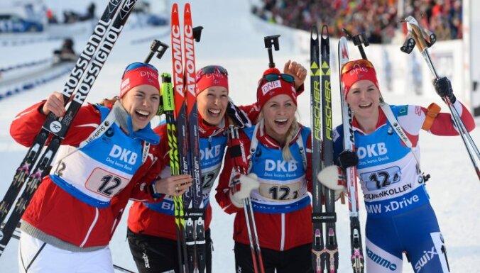 Norway: Synnoeve Solemdal, Fanny Horn Birkeland, Tiril Eckhoff and Marte Olsbu win 4x6 km relay