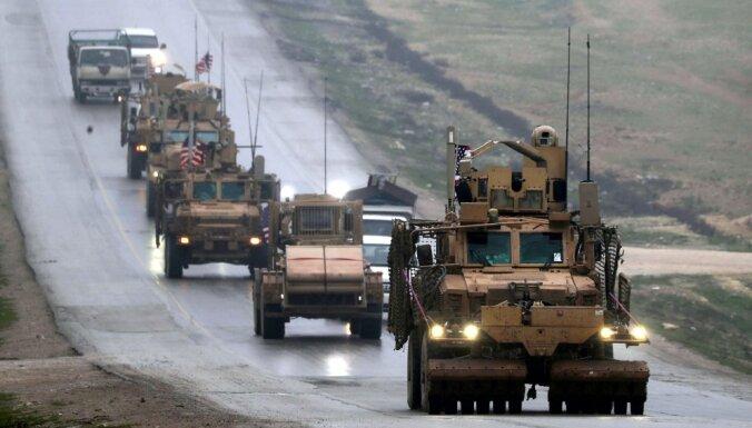 Visiem ASV karavīriem Sīrijas ziemeļos dota pavēle pamest valsti