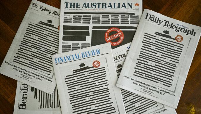 Ведущие газеты Австралии вышли с закрашенными первыми полосами