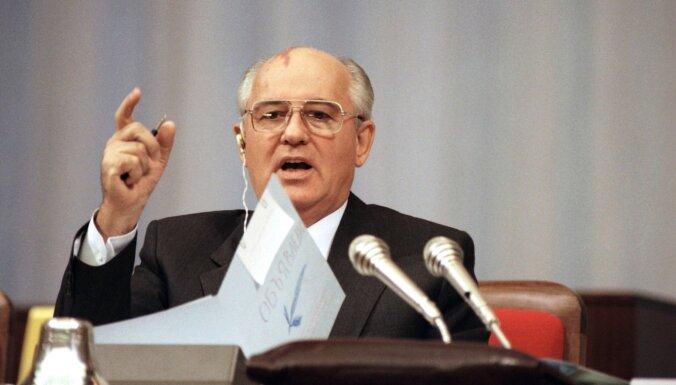 Pēdējam PSKP CK ģenerālsekretāram un pirmajam PSRS prezidentam Gorbačovam 90