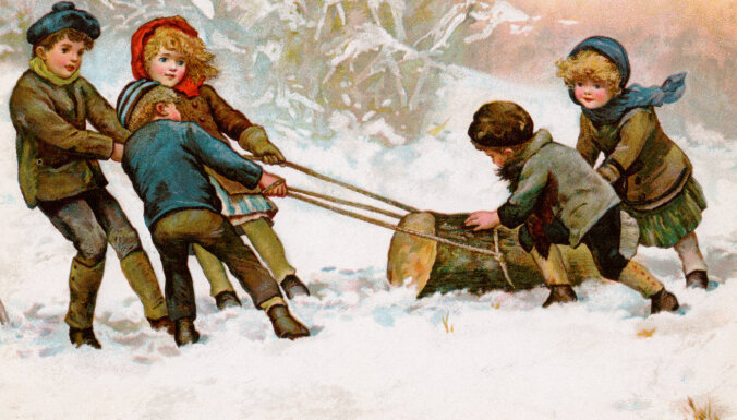 Īpatnējā Ziemassvētku izdarība – bluķa vilkšana