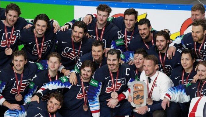ASV hokejistiem izcila metienu realizācija ļauj bronzas spēlē sakaut Vāciju