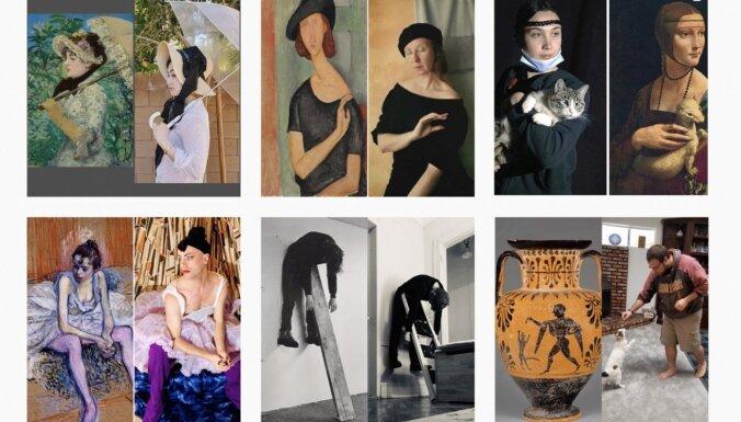 ФОТО: Искусство в самоизоляции. Шедевры из туалетной бумаги, овощей и собак