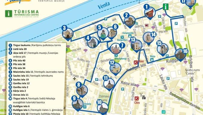 Meklē pilsētas tornīšus! Ventspilī izveidots jauns pastaigu maršruts