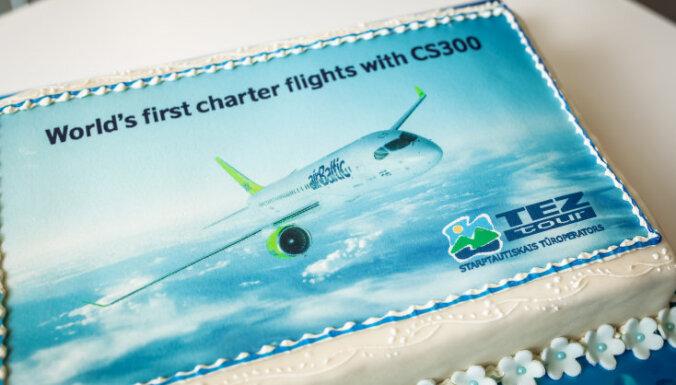 Tez Tour и airBaltic начинают первые в мире чартерные рейсы на CS300