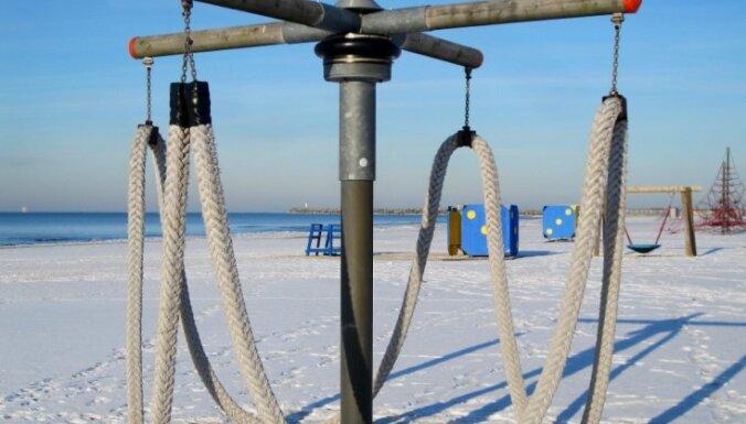 Fotoreportāža: Ziemas diena Ventspils jūrmalā