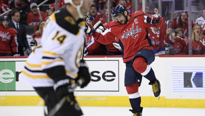 """Кузнецов и Овечкин покуражились над """"Бостоном"""" в первом матче чемпионата НХЛ"""