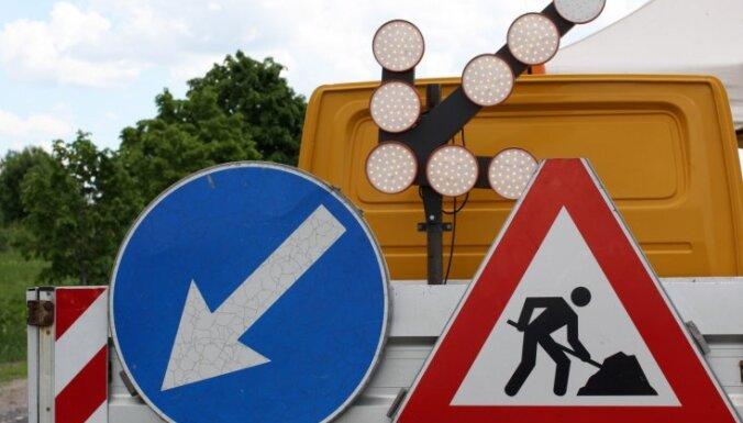 Atsākas ceļa būvdarbi pie Gulbenes; ierobežos atļauto braukšanas ātrumu