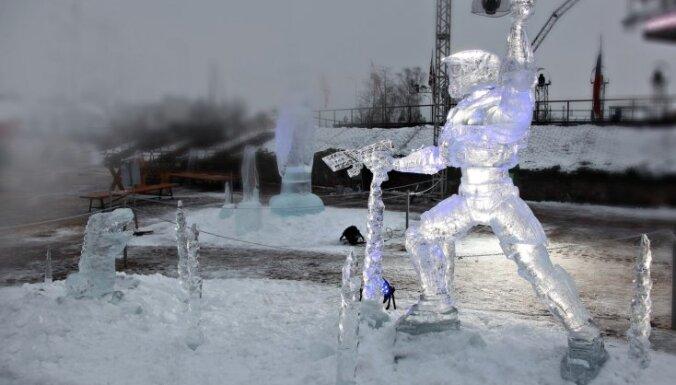 Фестиваль ледовых скульптур в Елгаве: названы победители