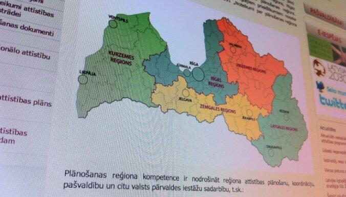 Valdība piedāvās plānošanas reģionus attīstīt un pārveidot par apriņķa pašvaldībām (precizēta)