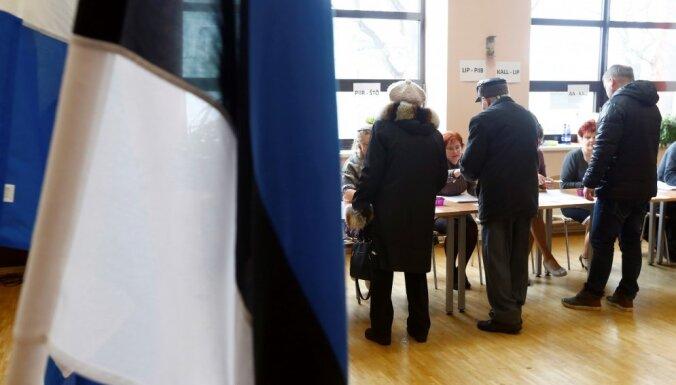 Foto: Igaunijā notiek parlamenta vēlēšanas